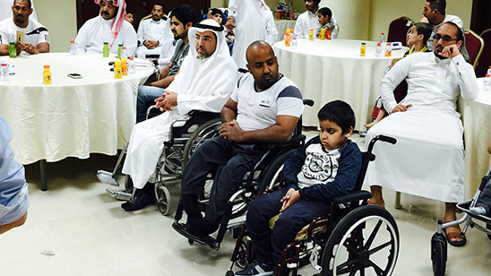 Awareness program for customized special seating for mobility disability at al Al Hassa